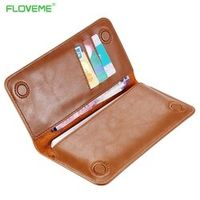FLOVEME Genuine Leather Wallet Case for iphone 7 6s Plus Real Leather Phone Pouches