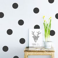 faroot Polka Dot Wall Stickers Removable Decal Pattern