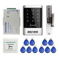 MILEVIEW DIY Waterproof Rfid Door Access Control Kit Set With Electric Strike Lock + 10 RFID keyfob Card In Stock FREE SHIPPING