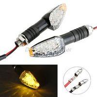 Mgoodoo 2pcs Universal Motorcycle Led Turn Singal Lights Lamp Motorbike Turn Light Indicators Flashers Blinker Amber Light Bulb