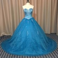 Melice Luxury Beaded Crystal Quinceanera Dresses Ball Gown
