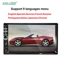 kklusb 2 Din 7'' inch LCD Touch screen car radio player support multiple Languages