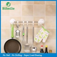 sibeile weiyu SBLE Stainless Steel Door Hanging Rack shelf Towel Bar Scouring Pad