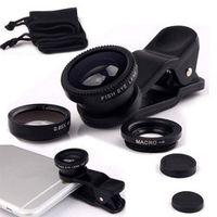 NYFundas Fisheye 3 in 1 mobile phone clip lenses wide angle macro fish eye