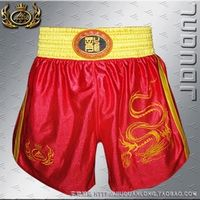 used for  children to adults   mma boxing shorts Sanda Muay Thai pants embroidered dragon shorts short pants   Muay Thai kickbox