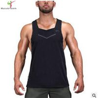 2017New men fitness   brother superman vest Breathable quick-drying  vest