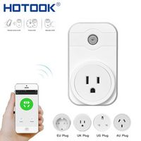 Smart Socket Plug WIFI Outlet EU US AU UK Timer Switch Wireless Control Power Adapter on and off by mobile phone HOTOOK