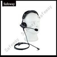 szsafeway one pin walkie talkie headset with boom in line PPT mic for Yeasu Earpieces