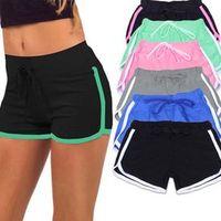 desmiit Yo-Ga Drawstring Shorts Women Casual Loose Cotton