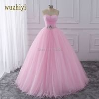 wuzhiyi Pink Ball Gown Quinceanera Dresses Sweet 16 Dresses