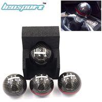 Leosport Leosport-JDM style black/red line 5/6 Speed M10X1.5 Mugen Carbon Fiber