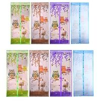 4 Color Curtain Anti Mosquito Magnetic Tulle Shower Curtain Automatic Closing Door Screen Summer Style Mesh Net 90/100 x 210 CM