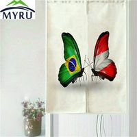 MYRU Personalized Butterfly National Flag Series Door Curtain  Household Geomantic Lucky Curtain 85x150cm