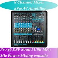 MICWL 2800W High Amplifier 8 Channel Top-Quality Microphone Mixing Console Power