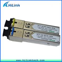 Free Shipping !!!2 pairs a lot ! Compatible Module 1310/1550nm BIDI SFP 1.25G WDM SFP 3Km SC Connector With DDM