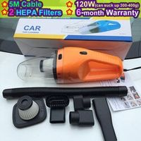 ( 2 HEPA Filter) 2017 NEW Portable Car Vacuum Cleaner Wet and Dry Aspirador de po dual-use Super Suction 120W Car Vacuum Cleaner