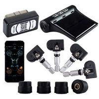 Viecar Car Tire Pressure Monitoring Alarm System TPMS Bluetooth APP OBD LCD Display