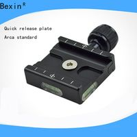 BEXIN QR-50 Adapter Square Clamp with Gradienter for Quick Release Plate for Tripod