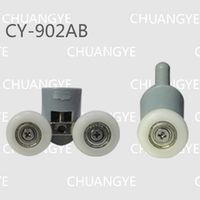 8pcs Shower room accessories shower cabin pulley bathroom pulley old fashioned pulley 22mm 25mm diameter