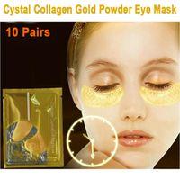 10 Pairs Skin Inverse Time Anti-aging Collagen Gold Powder Crystal Moisturizing