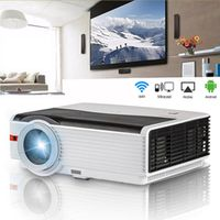 CAIWEI Android 5000Lm Bright LCD LED Home Projector Movie Video Theatre Projection
