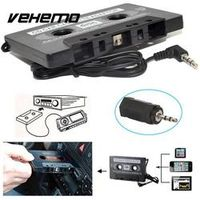 Vehemo Music Tape Cassette Converter 3.5MM Jack Black AUX Smart Car Stereo Automobile