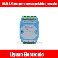 Nzluliyuan DS18B20 temperature acquisition module 8 RS485