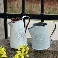 Meigar Watering Cans Flowers Bucket Barrel Vases Metal