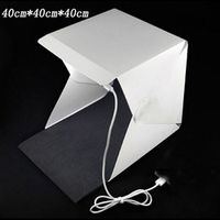 40cm Portable Mini LED Photo Studio Box Photography Backdrop built-in high Light Photo Box foldable softbox with backgound new