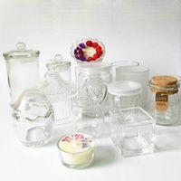 sunchamo DIY Wax Empty Glass Candlestick Windproof Cup