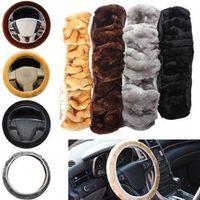 CAR-partment Soft Warm Plush Winter Steering-Wheel Cover Elastic Universal
