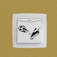 YOJA Ball Kick Shoe Soccer Sports Bedroom Switch Decal