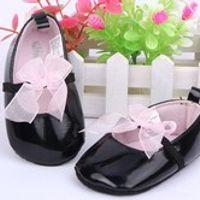 Children's Bowknot Black Princess Shoes Baby Girls Soft Sole Formal BabyShoe