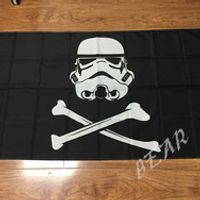 3x5ft Star Wars Stormtrooper Pirate Flag 100D Polyester Free Shipping