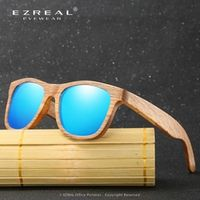 EZREAL New Fashion Products Men Women Du Wooden Bamboo Sunglasses HD Polarized au Retro Vintage Wood Frame Handmade