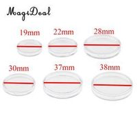 MagiDeal 100pcs/Lot Clear Round Plastic Coin Capsules