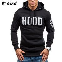 T-bird 2017 Hoodies Brand Men Chest Letter Printing Sweatshirt Male Hoody Hip Hop Autumn Winter Hoodie Mens Pullover Cotton XXXL