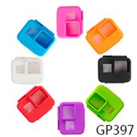 Action Camera Accessories Soft Silicone Case Rubber Shell for Go Pro Hero 5 Protection Housing Case Skin Frame GP397