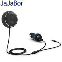 JaJaBor Bluetooth 4.0 Hands Free Car kit with NFC Function 3.5mm Receiver Music Aux