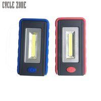 cycle zone Mini COB LED Flashlight Folding Hook Lamp Torch Linternas Lanterna AAA