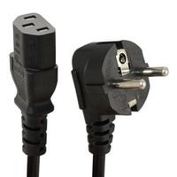 New Arrival 1.5m C13 IEC Kettle to European 2 pin Round AC EU Plug Power Cable Lead Cord PC