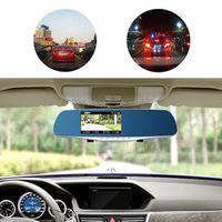 4.7 inch Car Rear View DVR HD 1080P  Reversing Mirror Dual Lens Video Recorder Camera Cam 8MP High Quality  JF-H909