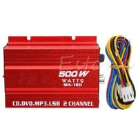 OOTDTY New Mini Hi-Fi 500W 2 Channel Stereo Audio Amplifier for Car Motorcycle