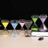 MISS ROSE 1PCS hourglass 5 minutes diamond glass sand timer