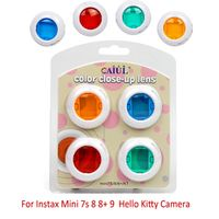 Colorful 4 Colors Close Up Lens Filter Mirror For Fujifilm Instax Instant Mini 7s