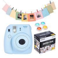 Fujifilm Instax Mini 8 Camera Kit Film Camera Photo Instant Camera with Lens Filter + 50 * Film + Photo Frame + Clip + String