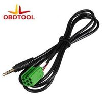 ObdTooL 3.5mm Aux Input Adapter Cable For Renault Clio Megane Laguna Scenic MP3