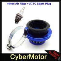 STONEDER Blue Aluminum 44mm Air Filter A7TC Spark Plug For 47cc 49cc 2 Stroke