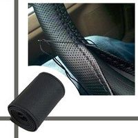 Car Steering Wheel Cover Braid on Microfiber Skid-Proof All Single Connector