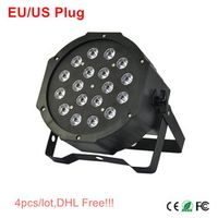 OUSSIRRO 18*3W Stage Light High Power RGB Par Light With DMX512 Master Slave Led Flat